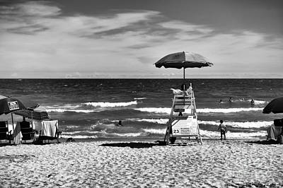 Photograph - Welcome To North Myrtle Beach Mono by John Rizzuto