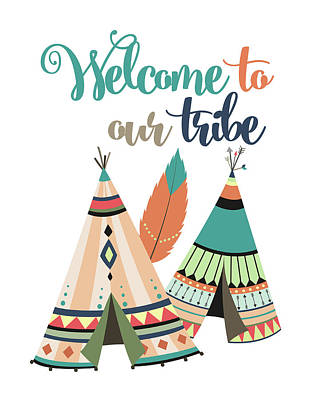 Catcher Painting - Welcome To Our Tribe by Tamara Robinson