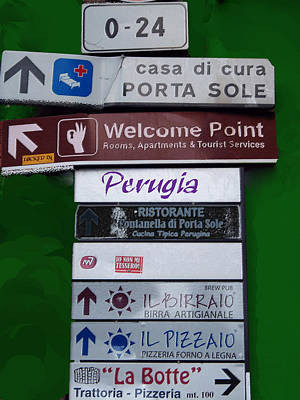 Welcome To Perugia Art Print by Caroline Stella