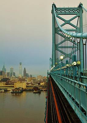 Ben Franklin Bridge Photograph - Welcome To Philly by Benjamin Yeager
