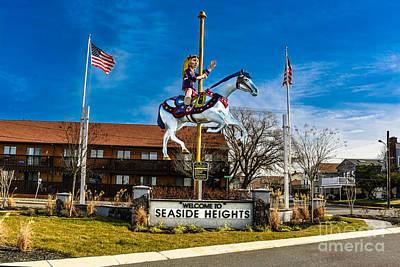 Welcome To Seaside Heights Art Print by Gary Keesler