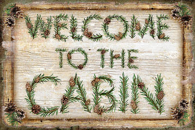 Signed . Nature Painting - Welcome To The Cabin by JQ Licensing