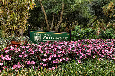 Photograph - Welcome To The College Of William And Mary by Jerry Gammon