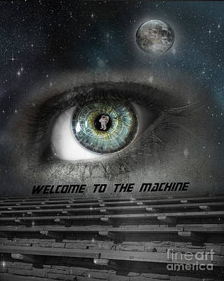 The Clock Photograph - Welcome To The Machine by Juli Scalzi