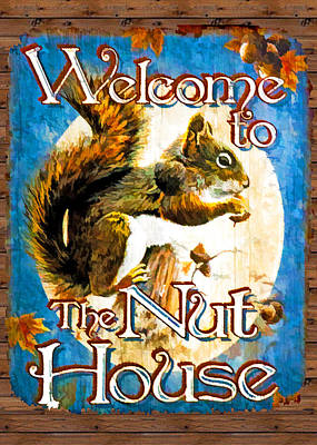 Digital Art - Welcome To The Nut House by John Haldane