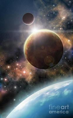Star Trek Digital Art - Welcome To The Space by Liz Molnar