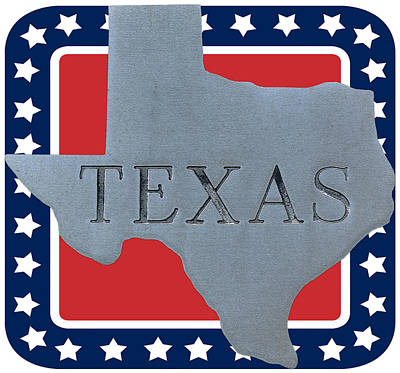 Cartography Photograph - Welcome To The State Of Texas by Christine Till