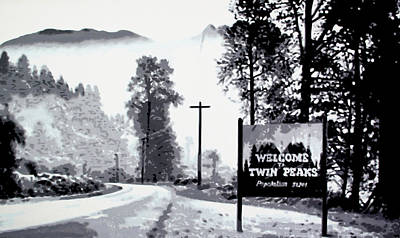 Welcome To Twin Peaks Original by Luis Ludzska