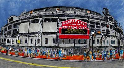 Wrigley Field Painting - Welcome To Wrigley Field by Phil Strang