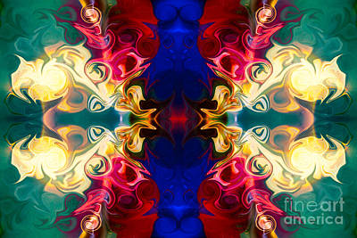 Handblown Glass Art Digital Art - Welcoming A New Reality Abstract Pattern Artwork By Omaste Witko by Omaste Witkowski