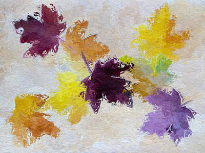 Maple Leaf Art Painting - Welcoming Autumn by Heidi Smith