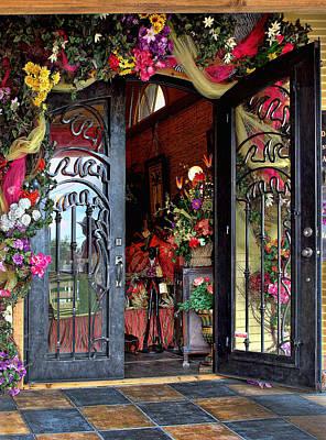 Welcoming Open Door Art Print by Linda Phelps