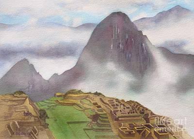 Machu Picchu Painting - Welcoming The Sun God by Amanda Schuster