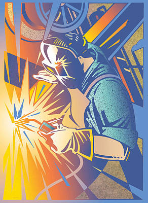 Welding Brilliance Art Print