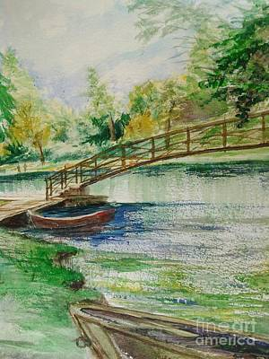 Painting - Weldon Springs Footbridge by J Anthony Shuff