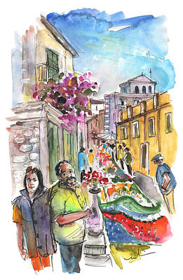 Painting - Well Dressings In Noto by Miki De Goodaboom