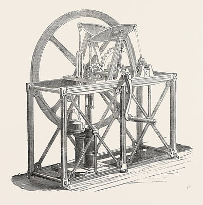 Well Engine. This Is A Well-engine Pump, Fixed In An Iron Art Print by English School