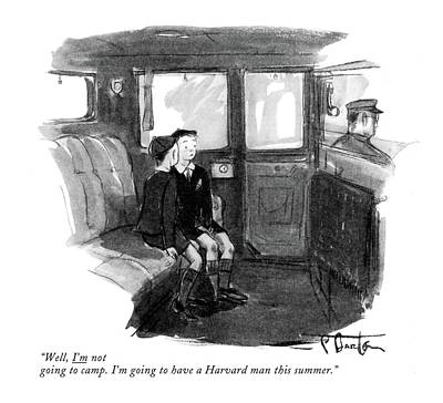 Brilliant Drawing - Well, I'm Not Going To Camp. I'm Going by Perry Barlow