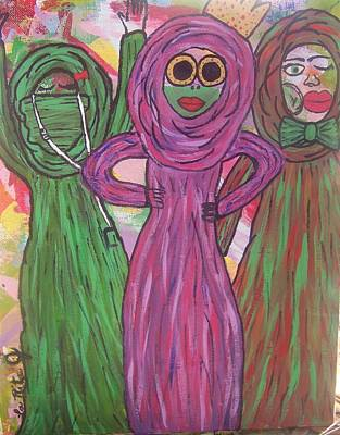 Hijab Painting - We'll Never B Royal by LaRita Dixon