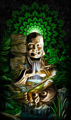 Art Print featuring the painting Well Of The Heart by Jalai Lama
