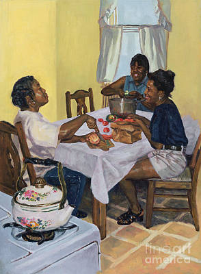 African-american Painting - Well Seasoned Banter by Colin Bootman