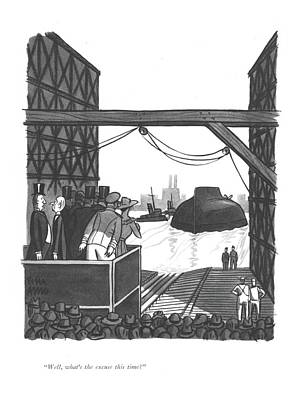 Repeat Drawing - Well, What's The Excuse This Time? by Peter Arno