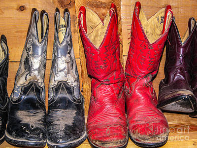 Photograph - Well Worn Cowboy Boots by Sue Smith