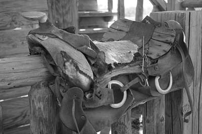 Photograph - Well-worn Saddle by David Rizzo