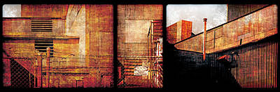 Photograph - Welland Forge Triptych 2 by The Art of Marsha Charlebois