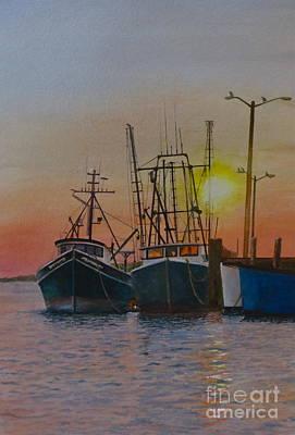 Wellfleet Dusk Art Print by Karol Wyckoff
