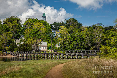 Photograph - Wellfleet Town Hall Over Duck Creek by Susan Cole Kelly