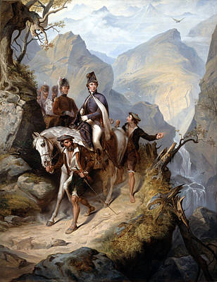 Wellington At Sorauren, 27th July 1813 Art Print by Thomas Jones Barker