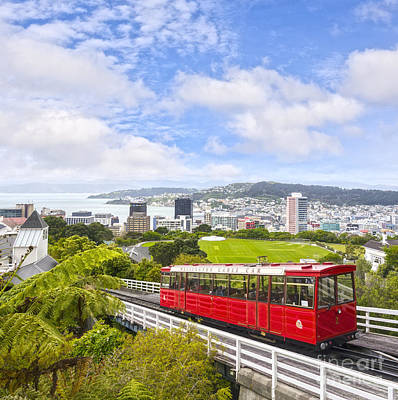 Wellington Cable Car New Zealand Art Print by Colin and Linda McKie