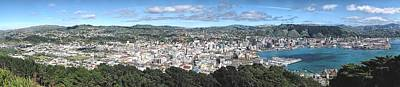 Photograph - Wellington Nz Panorama by C H Apperson