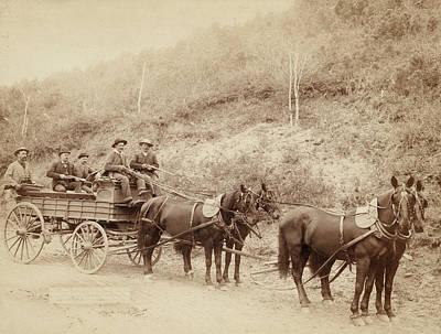 Wells Fargo Stagecoach Photograph - Wells Fargo & Company by Granger