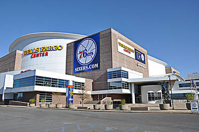 Sixers Digital Art - Wells Fargo Center by Bill Cannon