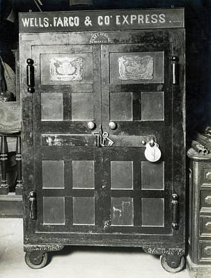 Treasure Box Photograph - Wells Fargo Gold Rush Safe by Underwood Archives