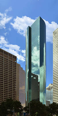 Financial Photograph - Wells Fargo Plaza Houston Tx by Christine Till