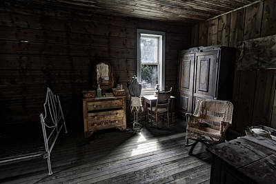 Bridal Suite Photograph - Wells Hotel Bridal Suite - Garnet Ghost Town - Montana by Daniel Hagerman