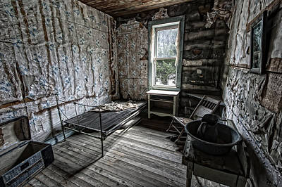 Rocking Chairs Photograph - Wells Hotel Room 2 - Garnet Ghost Town - Montana by Daniel Hagerman
