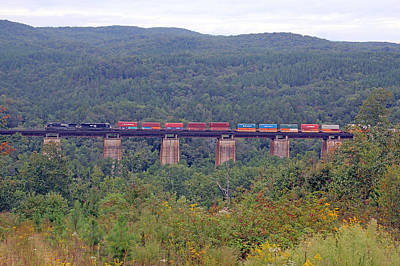 Photograph - Well's Viaduct Train by Joseph C Hinson Photography
