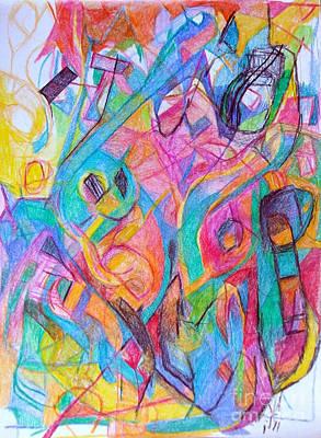 Creativity Drawing - Wellspring Of Truth 1 by David Baruch Wolk