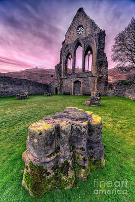 Llangollen Digital Art - Welsh Abbey  by Adrian Evans