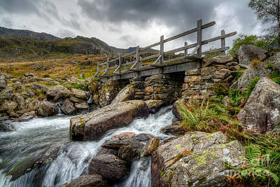 Hdr Landscape Photograph - Welsh Bridge by Adrian Evans