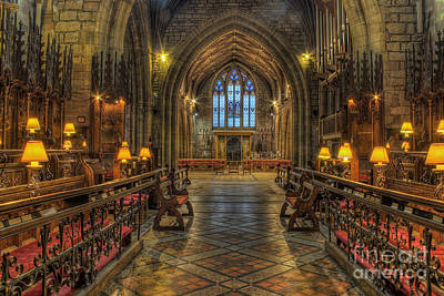 Church Photograph - Welsh Cathedral by Ian Mitchell