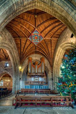 Organ Digital Art - Welsh Christmas by Adrian Evans