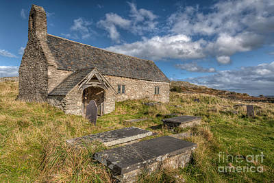 Tomb Photograph - Welsh Church by Adrian Evans