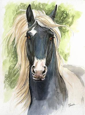 Horse Drawing Painting - Welsh Cob by Angel  Tarantella