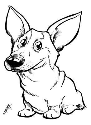 Pet Care Drawing - Welsh Corgi by Big Mike Roate