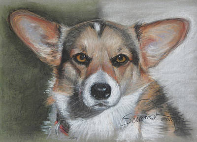 Welsh Corgi Art Print by Sciandra